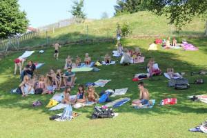 Schwimmbad Neukirchen Sponsorenschwimmen
